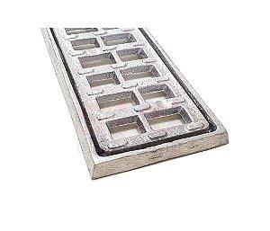 Grelha e Porta Grelha Alumínio Anti-derapante 10 x 50 cm