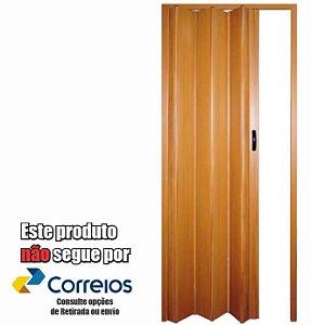 PORTA SANFONADA PERLEX PVC 72 X 210 CEREJEIRA