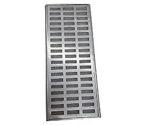 Ralo Grelha Suporte 20 x 50 Cm Alumínio C Tela Anti-Inseto