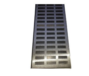 Ralo Grelha Suporte 20 x 100 Cm Alumínio C Tela Anti-Inseto