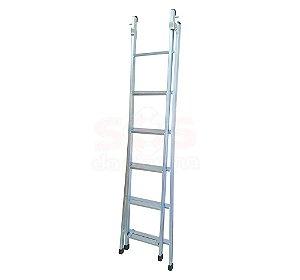 Escada  zincada -  6 degraus  3 em 1 /1,90 á 3,20 M Zincada 9,5 kg