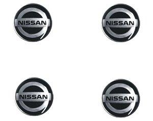 ADESIVO DE CALOTA Linha Nissan - NISSAN PRETO