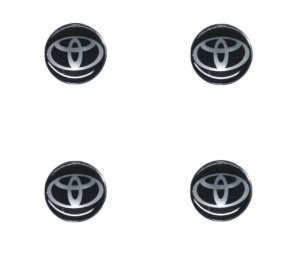 ADESIVO DE CALOTA Linha Toyota - TOYOTA PRETO