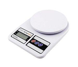 Balança Digital de Cozinha até 10kg - Branca