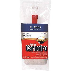 Rolo de Pele de Carneiro com Cabo 09 Cm