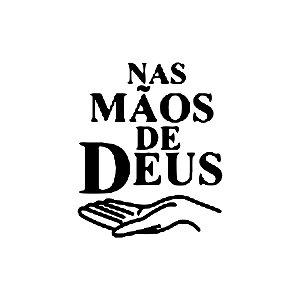 ADESIVO PARA Todos os Veículos - NAS MÃOS DE DEUS - 10x8cm