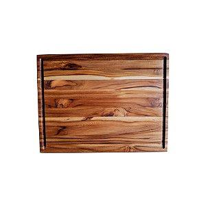 Tabua de Corte em Madeira Teca   - Profissional  - 34 x 45 x 3cm