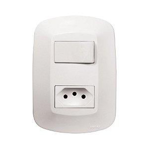 1 Interruptor Simples e 1 Tomada 2P + T