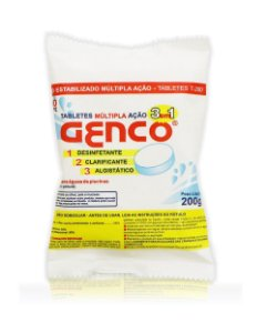 Pastilha de Cloro - 3 em 1 - Genco - 200 g