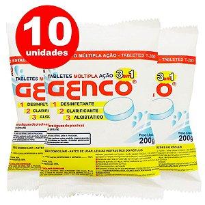 Pastilha de Cloro - 3 em 1 - Genco - 200 g - 10 Un