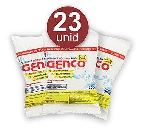 Pastilha de Cloro - 3 em 1 - Genco - 200 g - 23 Un