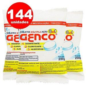 Pastilha de Cloro - 3 em 1 - Genco - 200 g - 144 Un