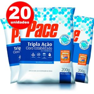 PASTILHA DE CLORO - 3 EM 1 - HTH - PACE 200 G - 20 UNIDADES