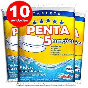 Pastilha de Cloro - 5 em 1 - Hidroall - 10 Unidades