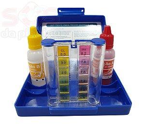 Estojo de Teste - pH e Cloro - 23 ML