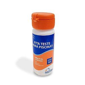 Fita Teste Total - pH - Cloro - Alcalinidade - 50 Fitas - Nautilus