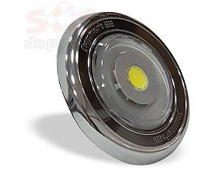 Refletor SLIM Power  em ABS CROMADO  Monocromatico Branco 13W - Com nicho
