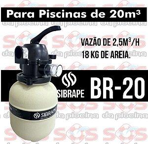 Filtro - Br-20 - Sibrape - Para Piscinas Até 20 m³