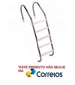 Escada para Piscina - Aço Inox 304 - 5 Degraus em ABS