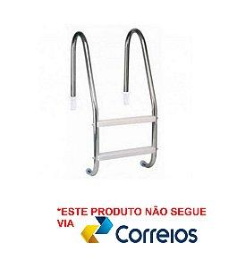 Escada para Piscina - Aço Inox 304 - 2 Degraus em ABS