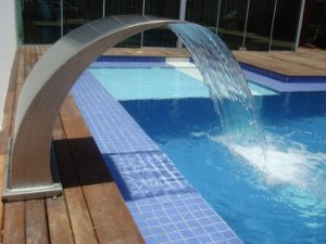 Cascata para Piscinas - Aço Inox 304 - Wave Juninho - 40 cm