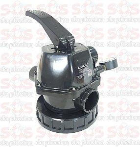 Válvula Seletora - 6 Vias - Nautilus - 1 1/2 em ABS - Com Manômetro
