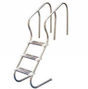 Escada para Piscina - Aço Inox 304 - Confort 1 1/2 - 3 Degraus