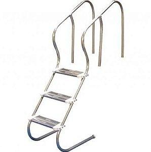 Escada para Piscina - Aço Inox 304 - Confort 1 1/2 - Com 4 Degraus