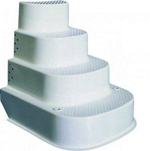 Escadas para Piscinas - Monobloco - em Fibra - 4 Degraus