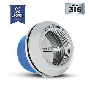 Dispositivo de Aspiração Inox Encaixe - 1 1/2 - 50 mm - Mont Serrat