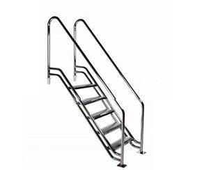 Escada para Piscina - Paris para Obesos e Fisioterápicos - 1,10 M - Aço Inox 304