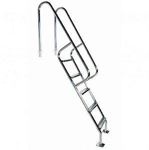 Escada para Piscina - Barcelona - 4 Degraus de 75 mm - 1,20 M - Aço Inox 304