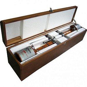 Espeto Giratório Automático - Embalagem de Madeira - Com 2 Peças - 110 V