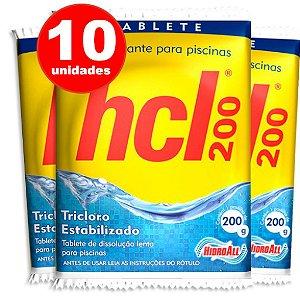 Pastilha de Cloro - HCL TAB - Tricloro Estabilizado - 200 g - 10 Unidades