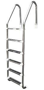 Escada para Piscina - Aço Inox - 6 Degraus em Aço Inox
