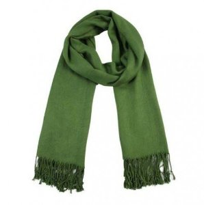 Pashmina - Xale Visc Lisa - 235 Verde Garrafa - 180 X 70 cm - 1067