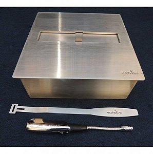 Lareira Ecológica - Álcool Etanol - Queimador Fubo 3 - 28 cm
