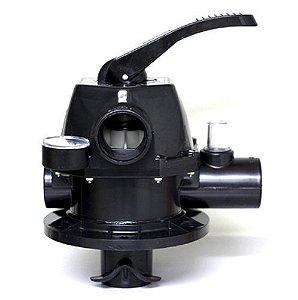VÁLVULA SELETORA - 6 VIAS - NAUTILUS - 1.1/2 EM ABS - FLANGEADA COM PARAFUSOS