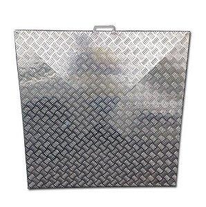 Tampa de Casa de Maquina - Chapa Xadrez - Alumínio - 1,20 x 1,20