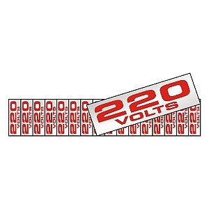 PLACA DE SINALIZAÇÃO ALUMÍNIO - 220V COM 16 PEÇAS