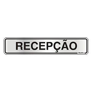 PLACA DE SINALIZAÇÃO ALUMÍNIO 05 x 25 CM - RECEPÇÃO