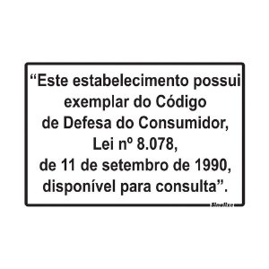 PLACA DE SINALIZAÇÃO POLIESTIRENO - LEI DO CONSUMIDOR