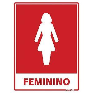 PLACA DE SINALIZAÇÃO POLIESTIRENO 15X20 - SANITÁRIO FEMININO