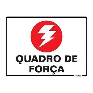 PLACA DE SINALIZAÇÃO POLIESTIRENO 15X20 CM - QUADRO DE FORÇA