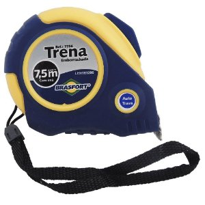 TRENA BRASFORT AUTO-TRAVA EMBORRACHADA 7,5M/25MM