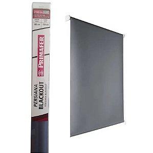 Persiana Blackout  Rolo - L 100cm x A 160 cm  Primafer  Cinza