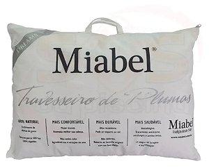 Travesseiro Miabel  Dreams  - Prata -  Plumas De Ganso 50 x 70 cm