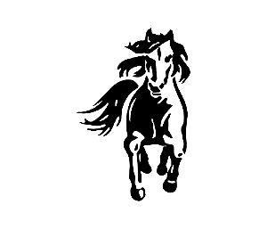 Adesivo Para Todos os Veículos - Cavalo -  20 x 13,2 Cm