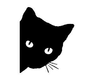 Adesivo Para Todos Veículos - Gato Para Lateral - 12x9,5 Cm