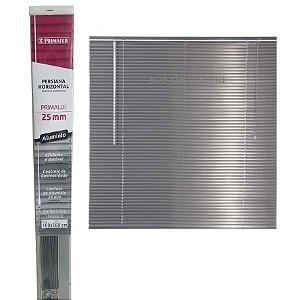 Persiana Horizontal Alumínio Cinza L 100 x A 160 Cm
